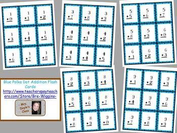 printable blue polka dot addition flash cards division. Black Bedroom Furniture Sets. Home Design Ideas