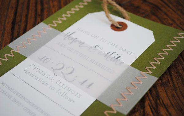 stitch + vellum wrap + insert + tie + stripe env insert
