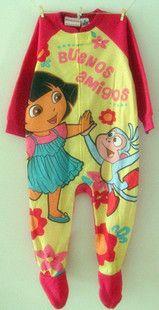 迪士尼原单 粉色DORA 长款l摇粒绒连体服爬爬服 家居服 睡衣 睡袋-淘宝网