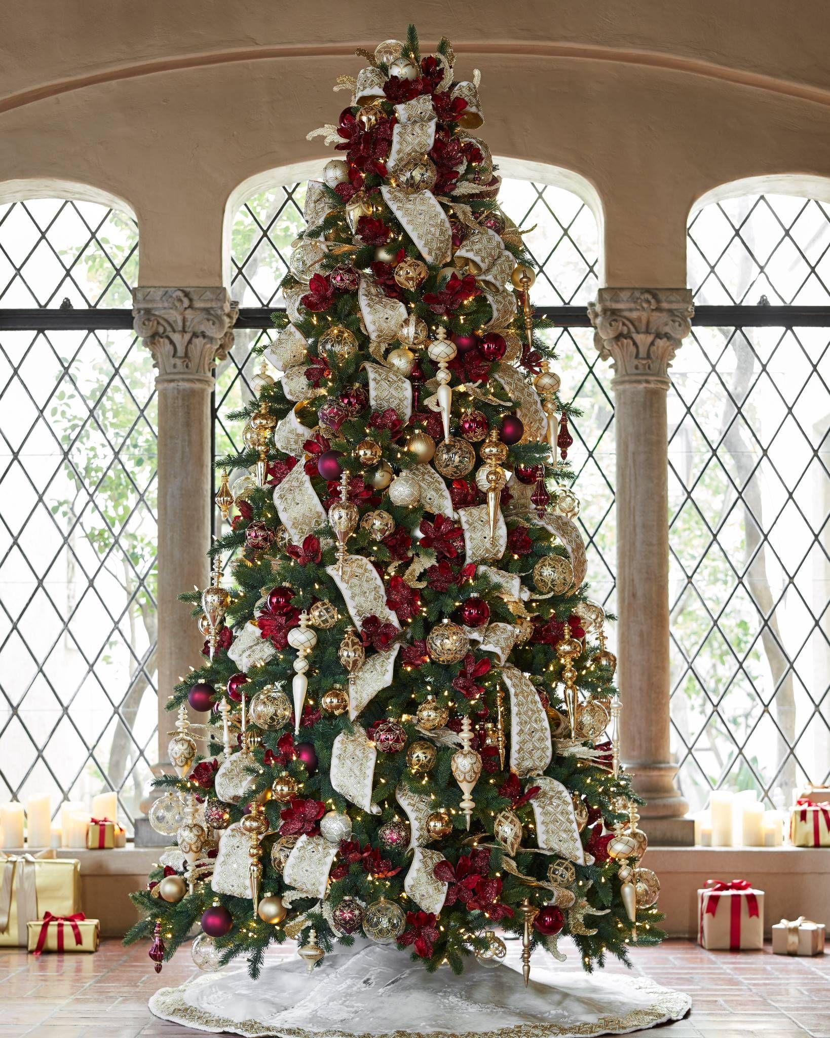 Biltmore Legacy Christmas Ornament Set Balsam Hill Elegant Christmas Trees Christmas Tree Themes Red Christmas Tree