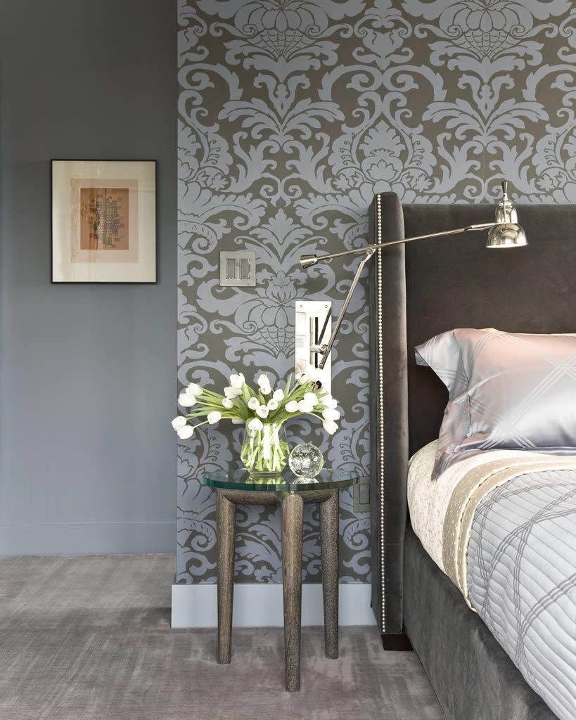 Master bedroom feature wall  W Hotel Residences  Terrat Elms Interior Design  Boston MA