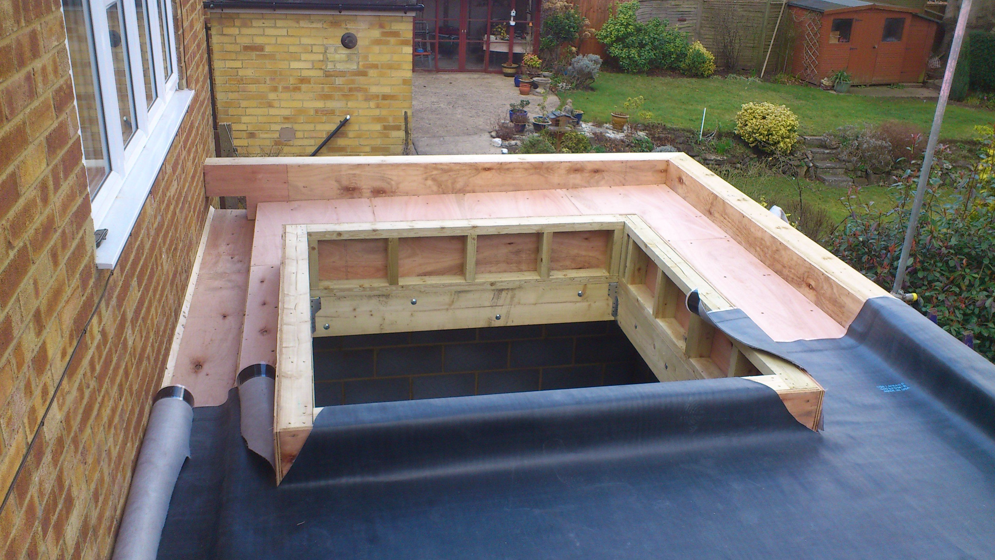 Verrière De Toit Plat New Build Epdm Flat Roof Dorking Architecture
