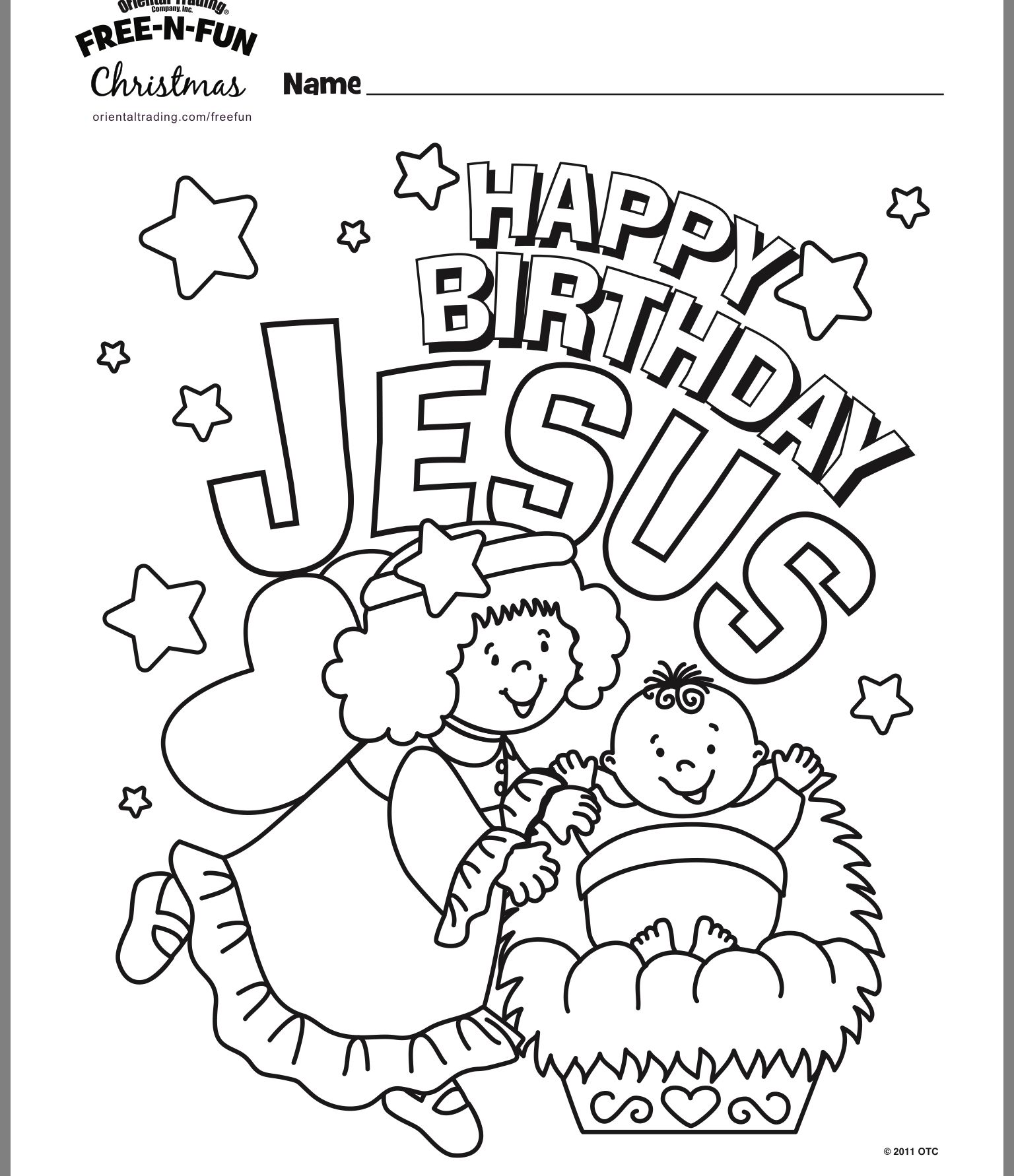 Free Printable Happy Birthday Jesus Coloring Pages
