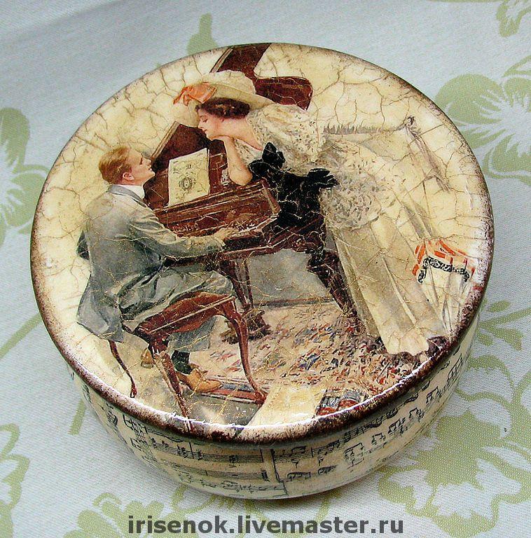 "Boxes handmade.  Fair Masters - handmade.  Buy ""old romance"" box.  Handmade.  Stash, lady, music, retro"