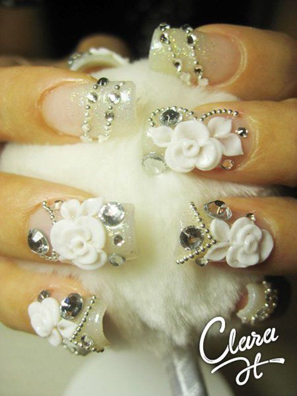 40 Ideas for Wedding Nail Designs | Nail wedding, Bridal nails and ...