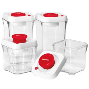 Cuisinart 8 Pc Vacuum Seal Canister Set Found At Jcpenney Food Storage Set Food Storage Container Set Food Storage Containers