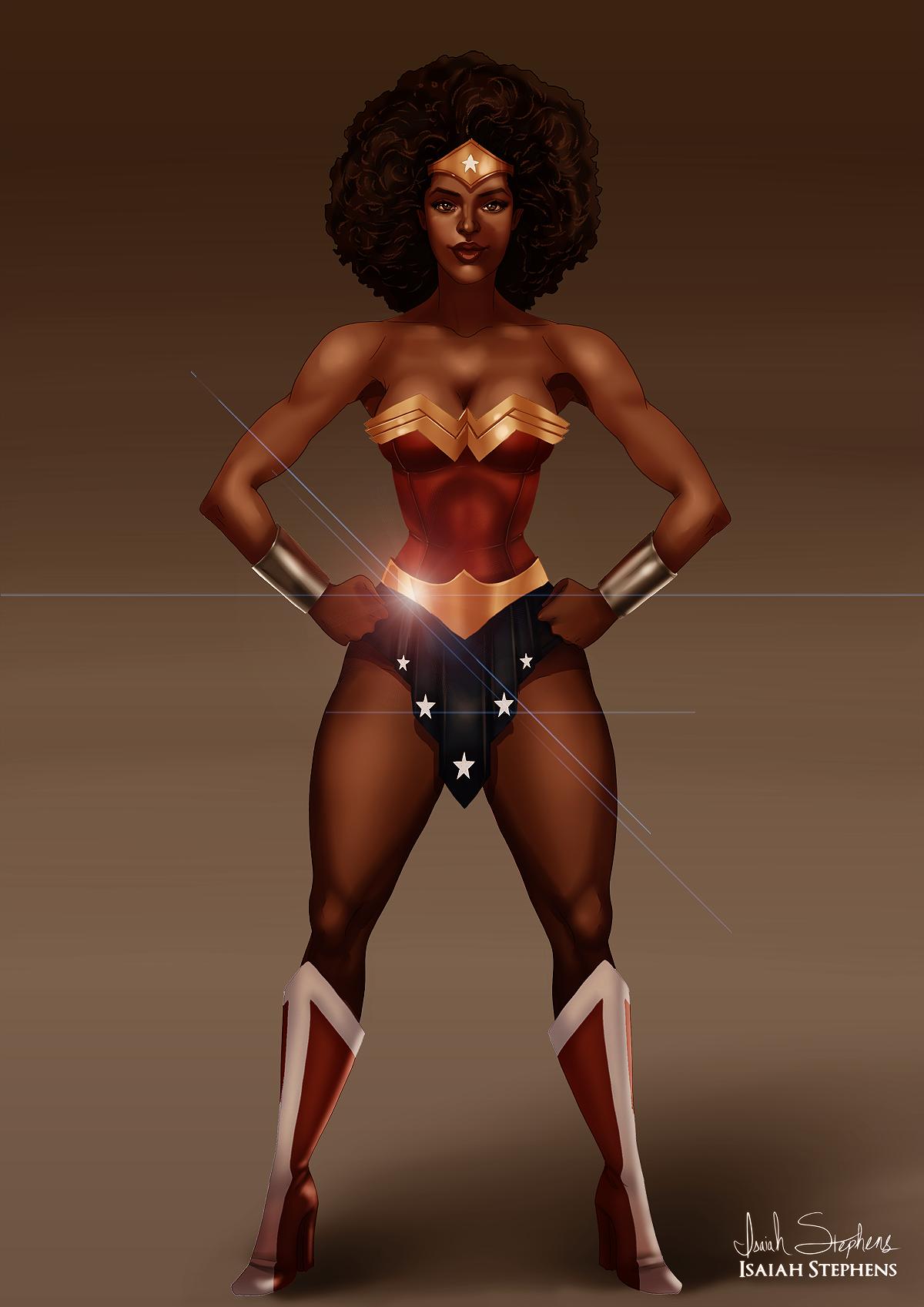 Isaiah Stephens Art And Illustration Black Heroes Project Wonder Woman Black Women Art Black Is Beautiful Wonder Woman