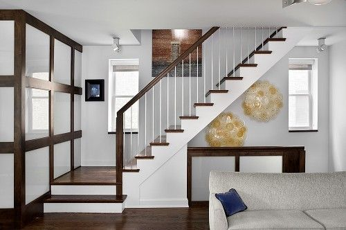 Best Stairs W Skinny Balustrade Metal Transitional 400 x 300