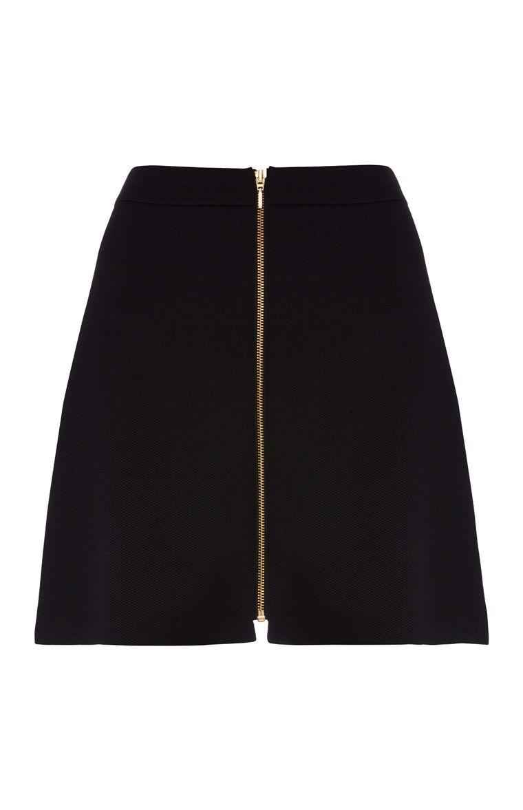 5a272a63e4 Primark - Black Zip Through A-Line Skirt | FASHION | Fashion ...