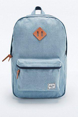 720f7fd8bdd Herschel Supply co. Heritage Backpack in Light Blue Denim