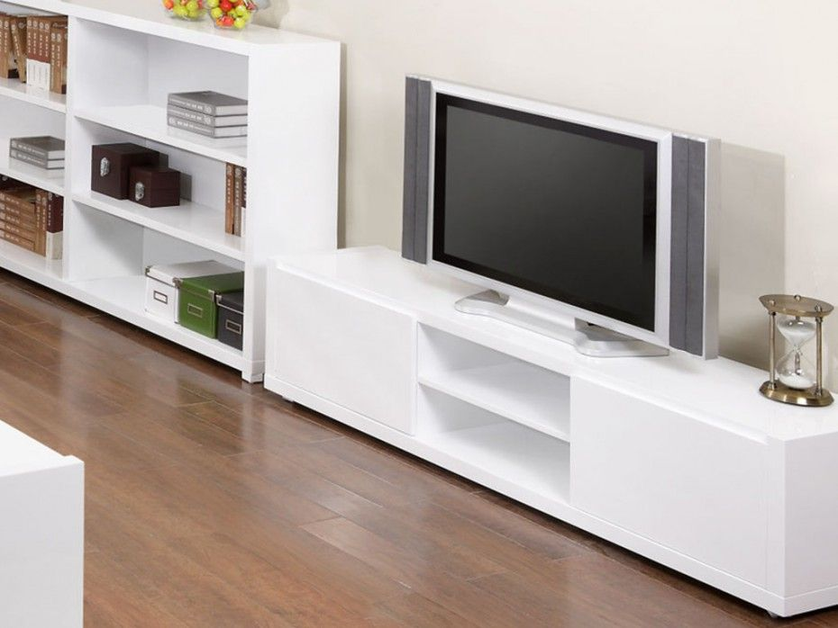 meuble tv oural mdf laqu blanc - Meuble Tv Living Blanc Laque For You
