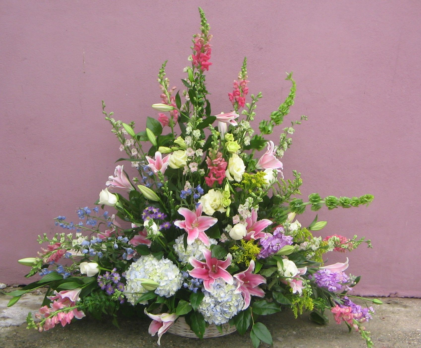Funeral Basket 9 As Pictured 25000 Soothing Pale Pastels Spill