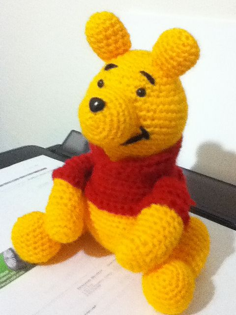 How To Crochet - Easy Simple Winnie the Pooh Amigurumi - YouTube | 640x480