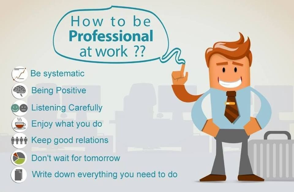 how to be professional at work business