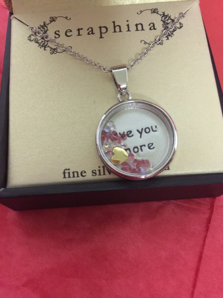Love You More Ladies Fashion Necklace By Seraphina In Gift Box