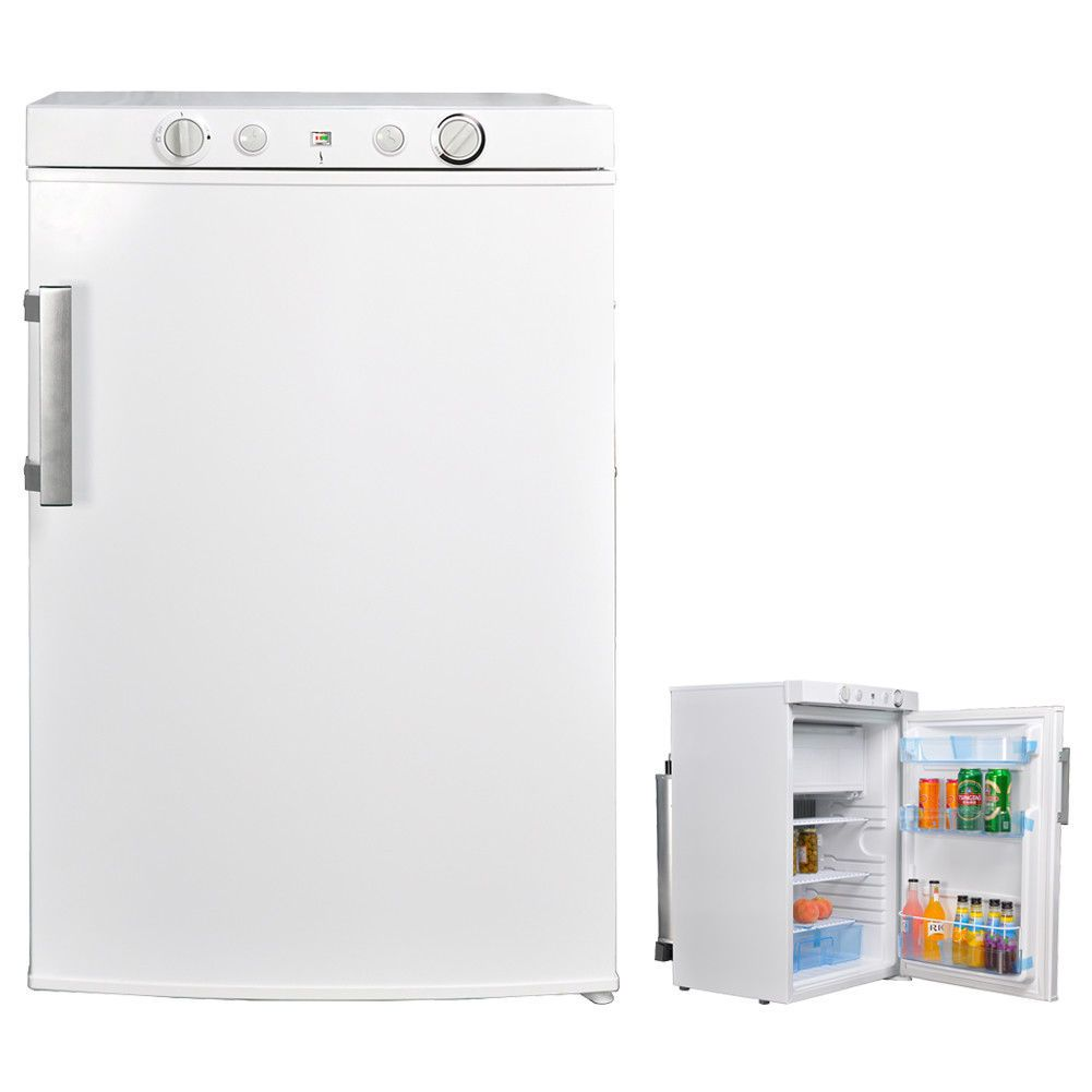 3 4 Cu Ft Ac Dc Gas Refrigerator With Internal Freezer Rv Camp Hunt Outbuilding Gas Refrigerators Propane Refrigerators Propane