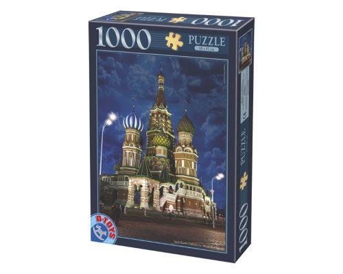 Puzzle D-Toys Catedral de San Basilio, Moscú de 1000 Piezas