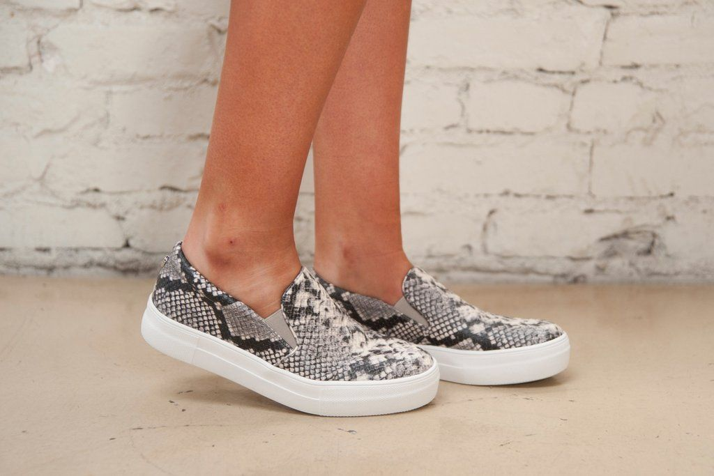 4062cf84a7f Steve Madden Gills Slip On- Snakeskin – Thirty One Boutique
