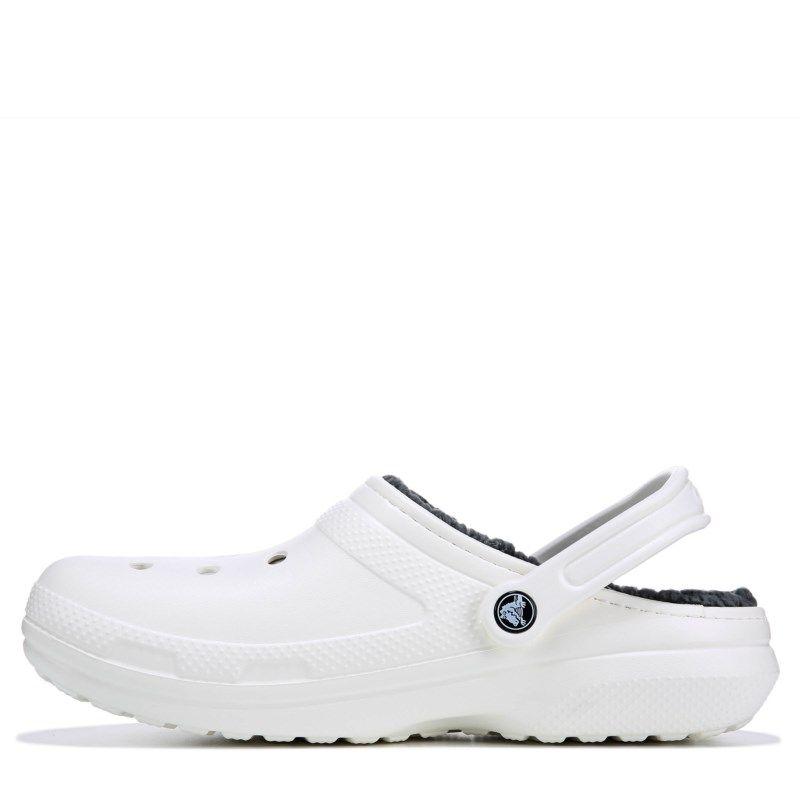 cdf407680 Crocs Men s Classic Lined Clog Shoes (White Grey)