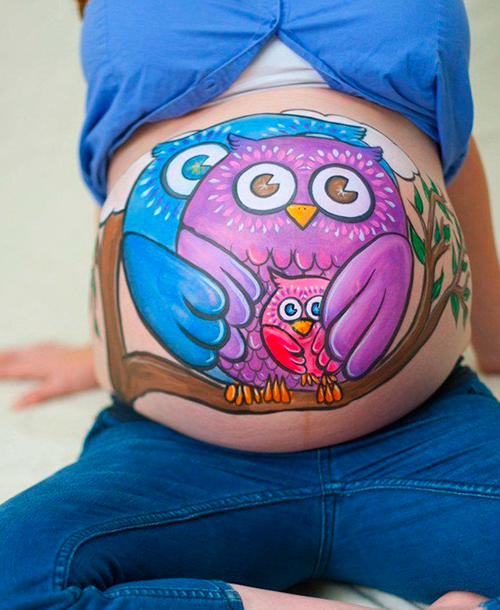 Day 1 goes sugar free for Maternity belly painting