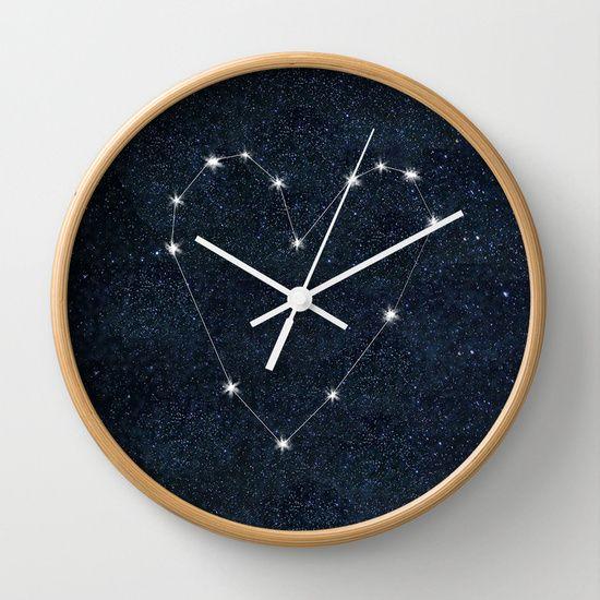 Midnight Love Wall Clock $30