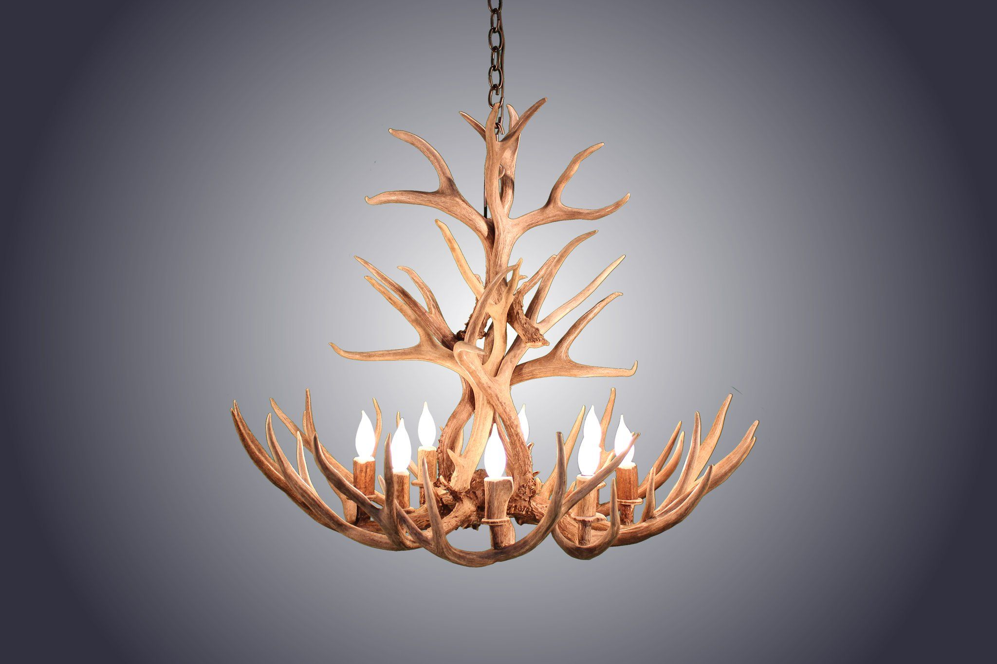 8 light tall mule deer antler chandelier awc 3 rustic style 8 light tall mule deer antler chandelier awc 3 aloadofball Images