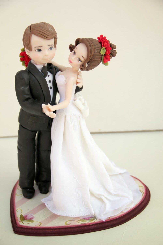 Novios en pasta flexible | Pastel de bodas | Pinterest | Pasta ...