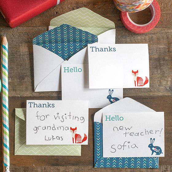 free printable stationery mini note cards and envelopes