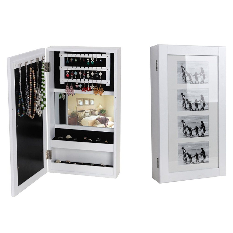 songmics armoire murale bijoux avec cadre photo 56cm. Black Bedroom Furniture Sets. Home Design Ideas