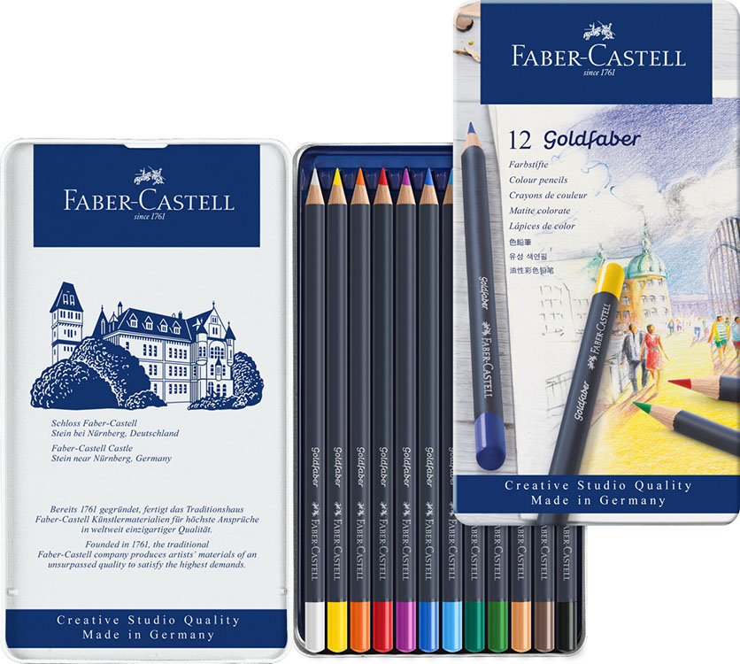 Art Pencils And Charcoal 28108 Faber Castell Goldfaber Colored
