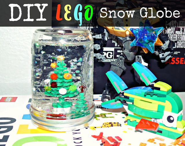 Diy Lego Snow Globe Snow Globes Diy Lego