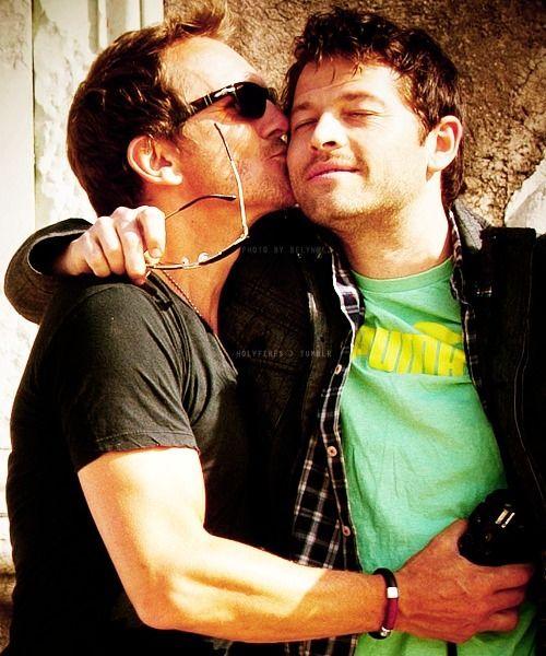 Misha Collins and Sebastian Roche