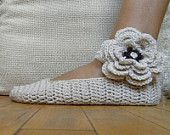 Pattern PDF - Mary Jane slippers -  crochet  - DIY tutorial - Quick and easy -  lace fashion wedding bride
