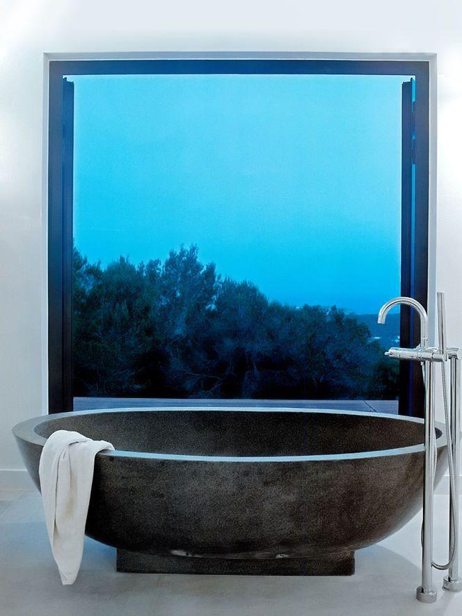 Nice tub, nice setting | Tran·quil·i·ty Bathroom | Pinterest | Tubs