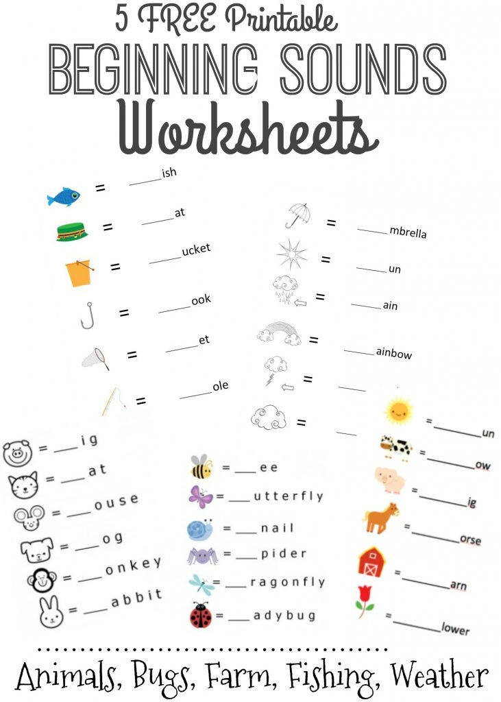 Free Beginning Sounds Letter Worksheets For Early Learners Letter