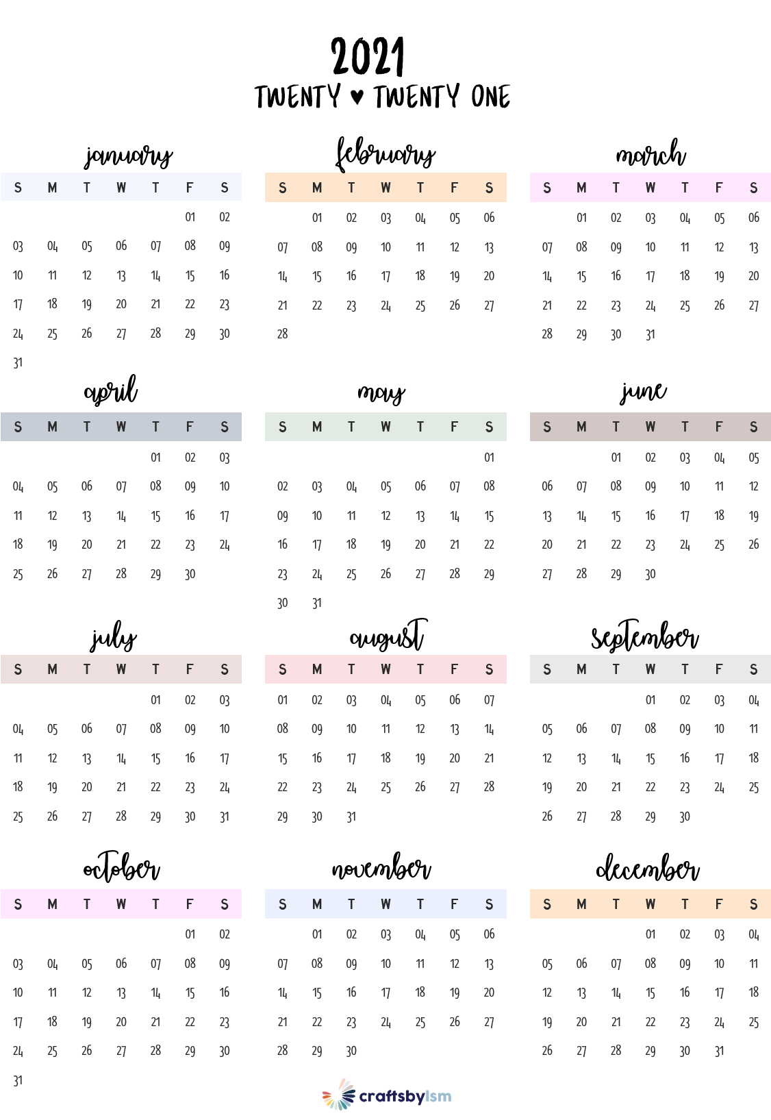 2021 Calendar Printable Free In 2020 Calendar Printables Daily Planner Pages Weekly Planner Template