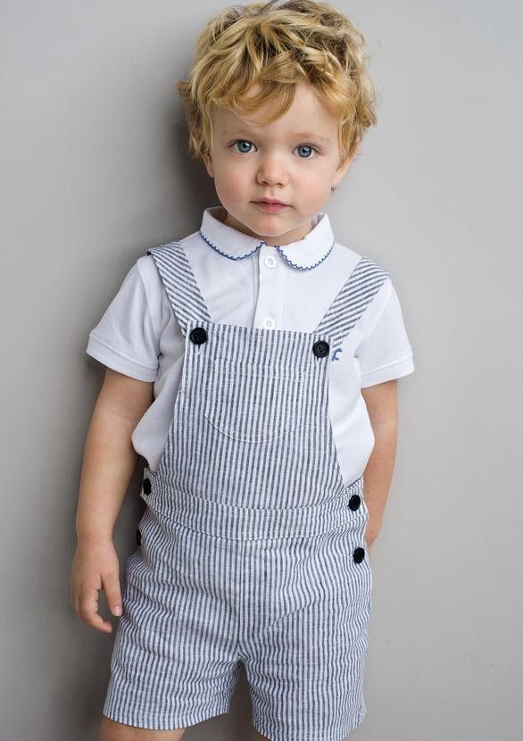 NECK & NECK | NAVY BLUE STRIPES SHORT OVERALL | Kids wear