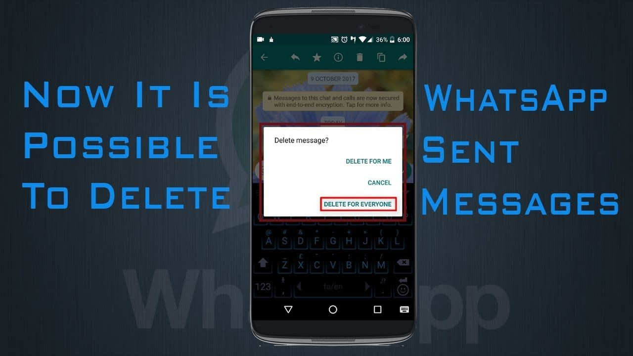 Delete whatsapp messages for everyone whatsapp new