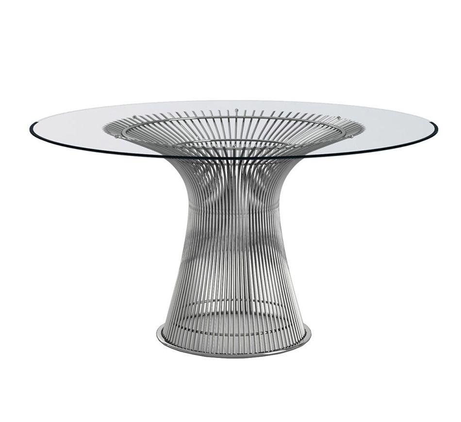 Table de salle à manger éditée par Knoll en fil métallique - 3100€