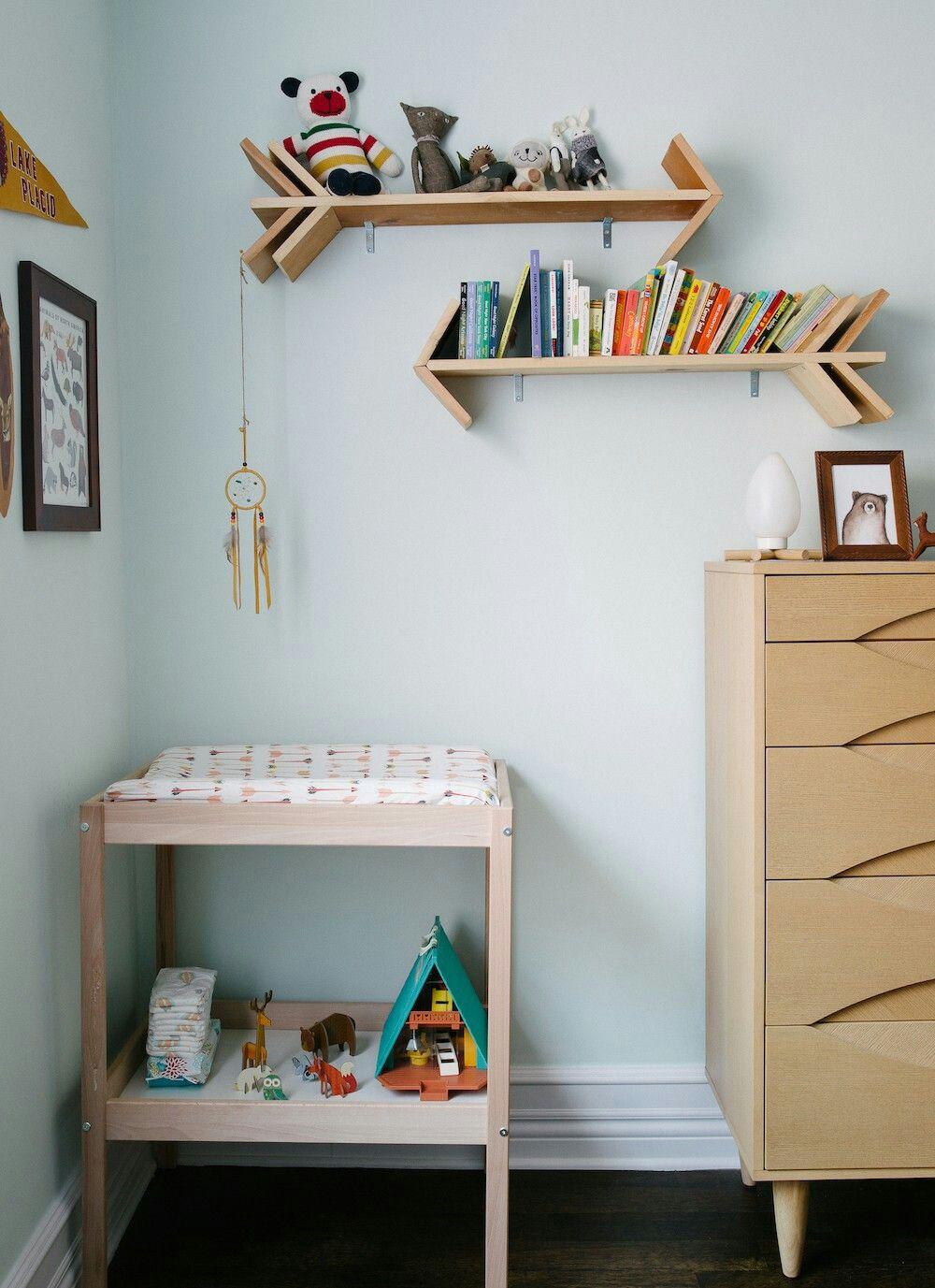 Arrow shelves baby room shelves kids wall shelves