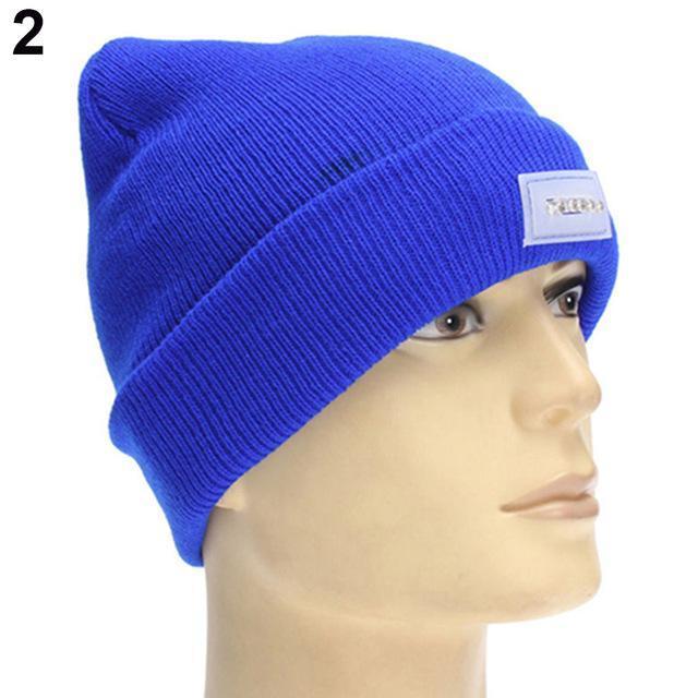 9b4ea66860b LED Light Knitted Hat