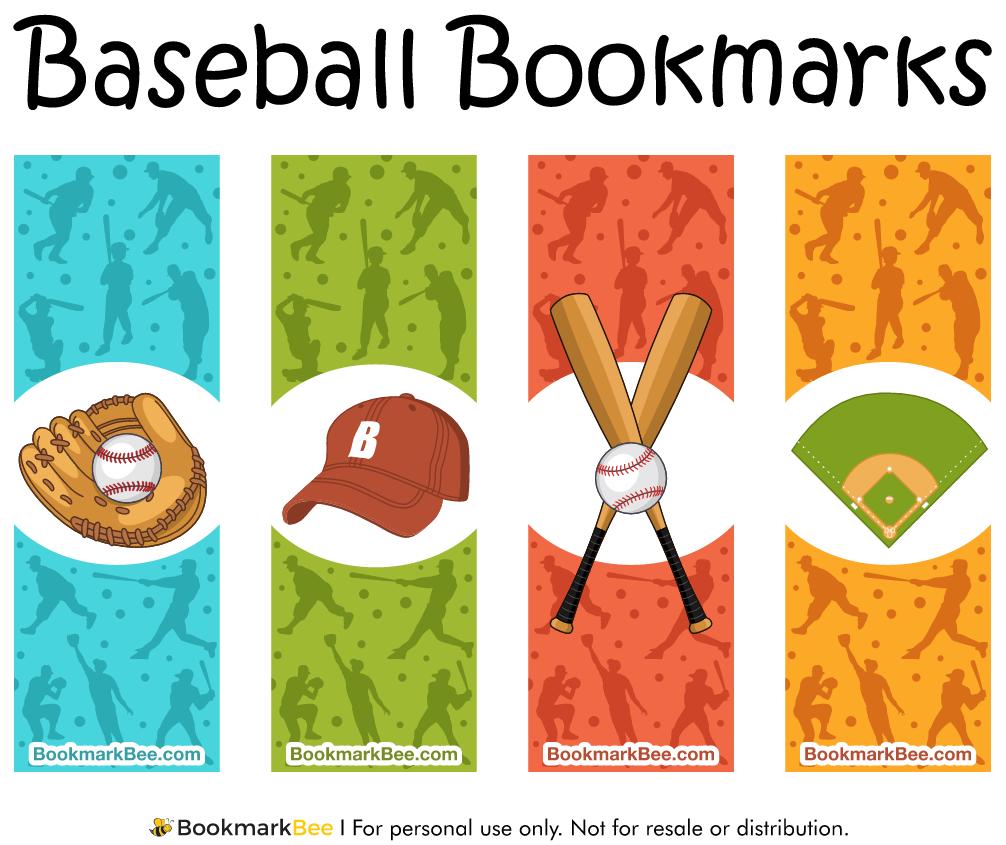 http://bookmarkbee.com/bookmark/baseball/ | Baseball Printables ...