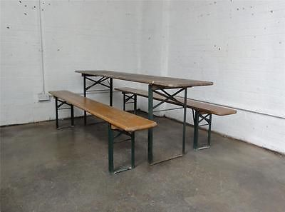 Phenomenal Original Vintage Ruku Wooden Trestle Folding German Beer Evergreenethics Interior Chair Design Evergreenethicsorg