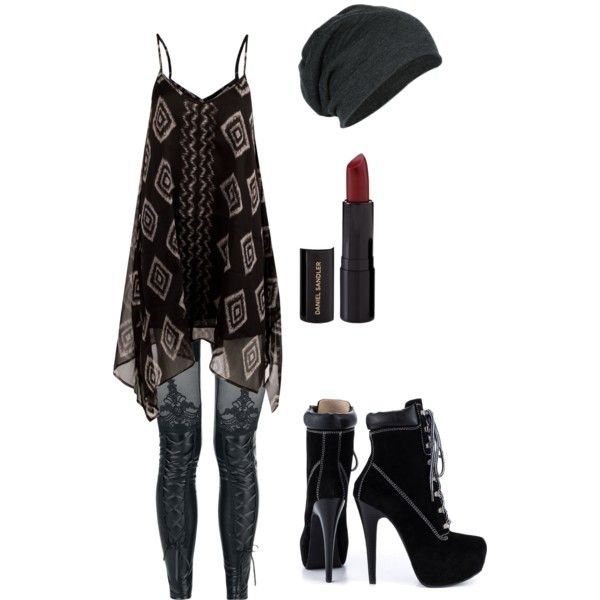 simple punky outfit
