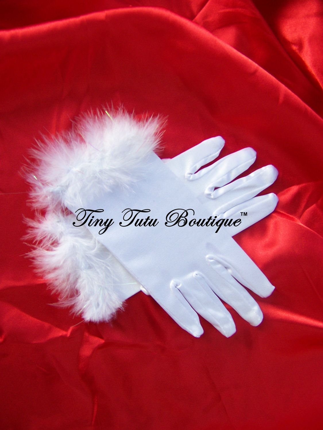 """Princess Gloves- White Children's gloves- Perfect accessory to one of our tutu's, """"Limited Availability"""""""