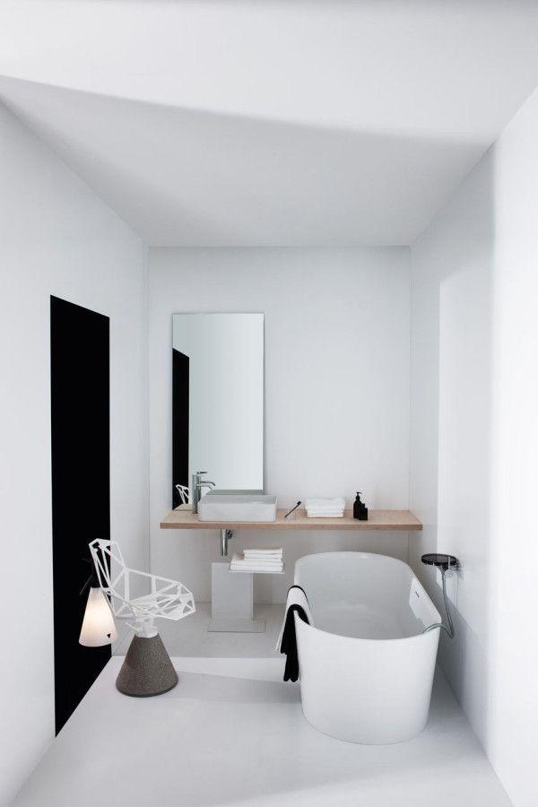 Inspirational All White Bathroom Set