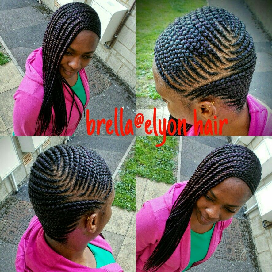 Ghana Braids Going To The Side More Braids Pinterest