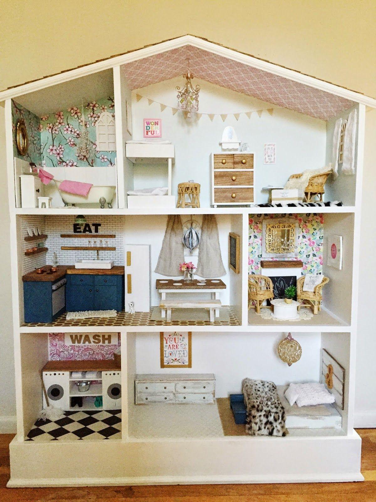 Caught In Grace Barbie Dollhouse Diy Diy Craft Ideas Pinterest
