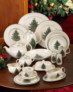 Cuthbertson Original Christmas Tree Christmas China Christmas Dinnerware Sets Spode Christmas Tree