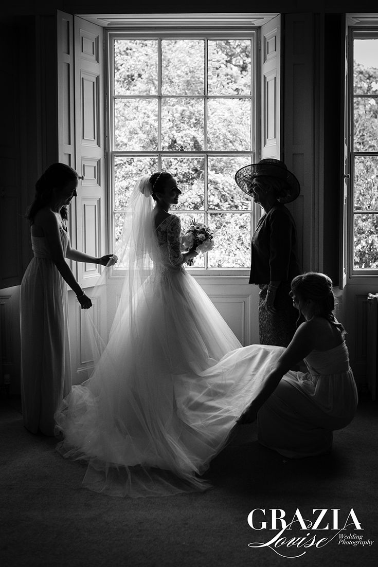 Bridal Party, Rise Hall Wedding Photography Yorkshire